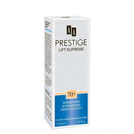 AA Prestige Lift Supreme, intensywnie wygładzający krem pod oczy, 70+, 15 ml
