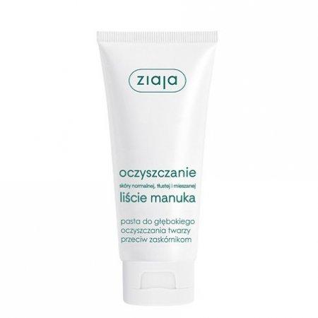 Ziaja Liście Manuka, oczyszczanie, pasta do głębokiego oczyszczania, 75ml