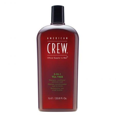American Crew Tea Tree, 3w1 szampon + odżywka + żel do kąpieli, 1000ml