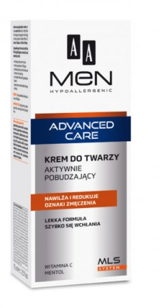 AA MEN Advanced Care, krem do twarzy aktywnie pobudzający, 75ml