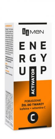 AA MEN Energy Up, żel do twarzy pobudzenie, 150 ml
