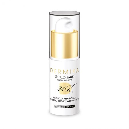 Dermika Gold 24K TB, Esencja Młodości, luksusowy krem pod oczy, 15ml