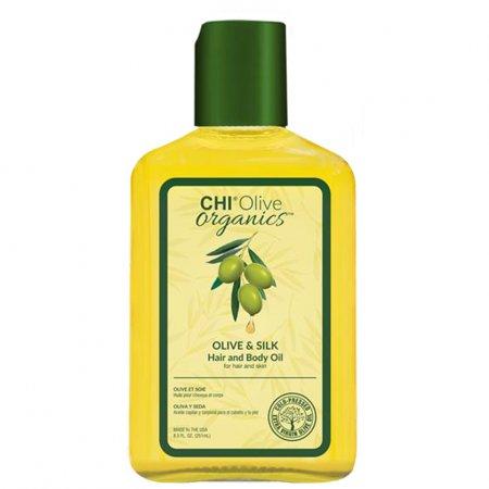 CHI Olive Organics, olejek do włosów i ciała, 251ml