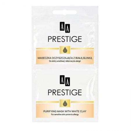 AA Prestige, oczyszczająca maseczka do twarzy z białą glinką, saszetka, 2x5ml