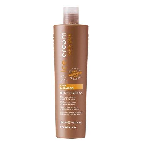 Inebrya Curly plus, szampon do włosów kręconych z olejkiem moringa, 300ml