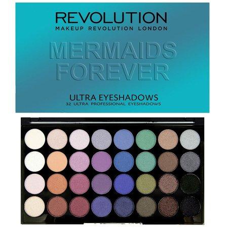 Makeup Revolution, paleta 32 cieni do powiek, Mermaids Forever