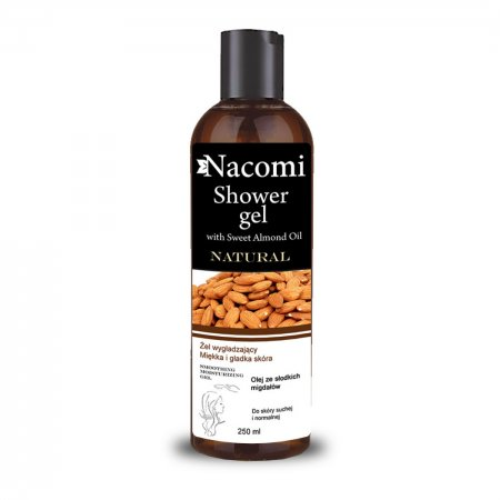 Nacomi, żel pod prysznic z olejem ze słodkich migdałów, 250ml