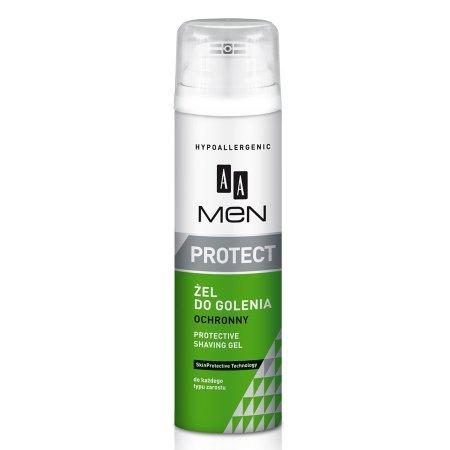 AA Men Protect, żel do golenia ochronny do każdego typu zarostu 200 ml