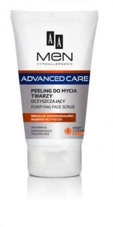 AA MEN Advanced Care, peeling do mycia twarzy oczyszczający, 150ml