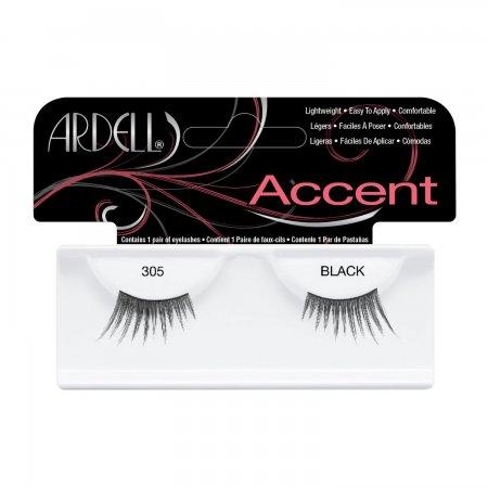 Ardell Accent, #305 Black, połówki rzęs