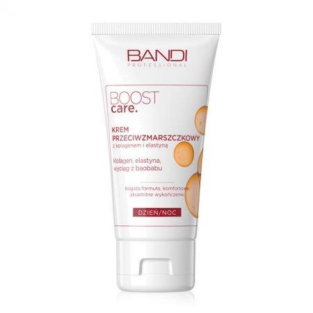 Bandi Boost Care, krem przeciwzmarszczkowy z kolagenem i elastyną, 50ml