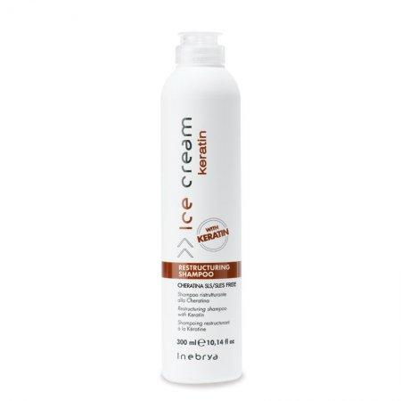 Inebrya Keratin, szampon restrukturyzujący z keratyną, 300ml