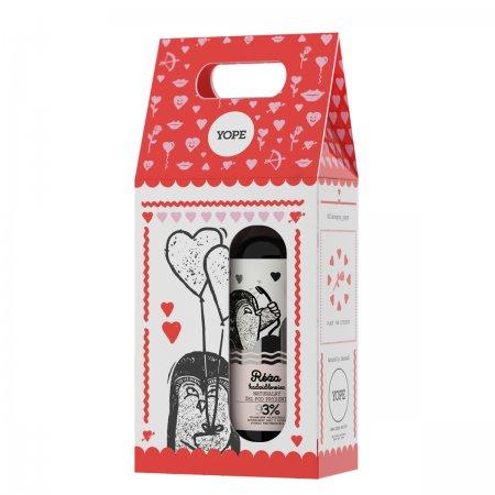 Yope, zestaw prezentowy: mydło Róża i Kadzidłowiec 500ml + balsam Wanilia 300ml