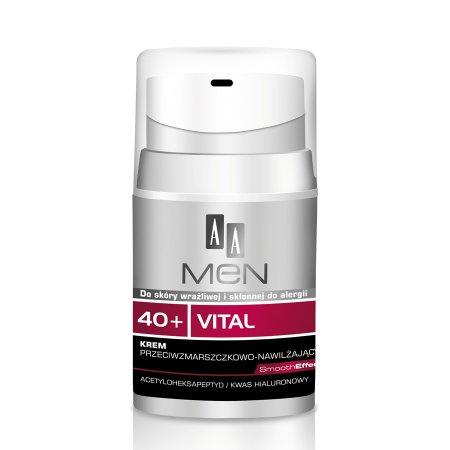 AA Men 40+, krem do twarzy przeciwzmarszczkowy, 50ml