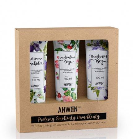 Anwen, zestaw 3 odżywek do wysokiej porowatości (orchidea, róża, bez)